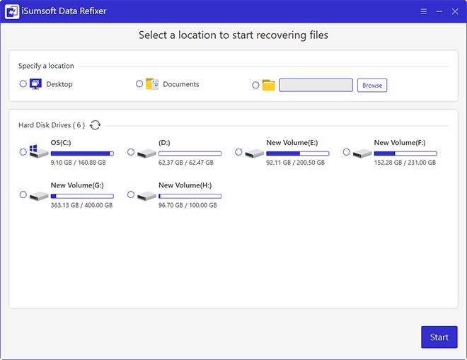 iSumsoft Data Refixer full screenshot