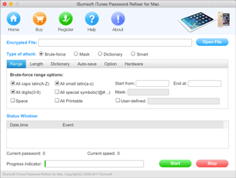 itunes password refixer for mac screenshot