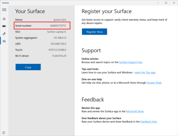 3 Ways To Find Surface Serial Number