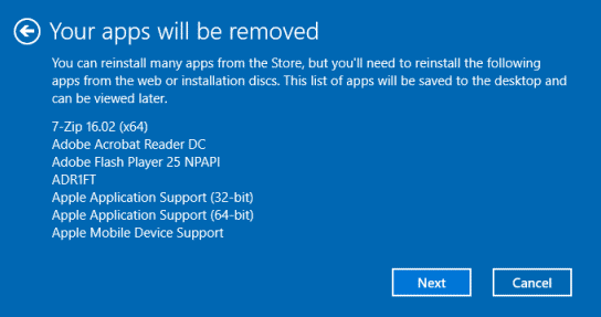 Desktop apps will be removed