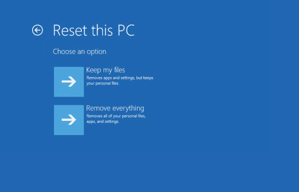 factory resetting on Surface