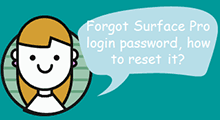Reset Surface pro login password
