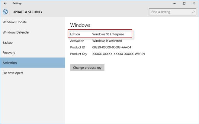 key windows 10 enterprise
