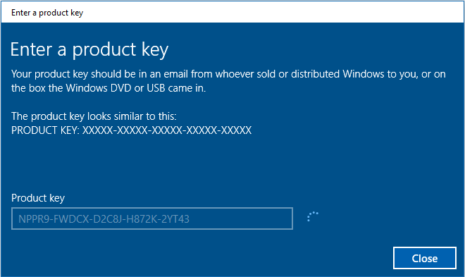 product key for windows 10 enterprise