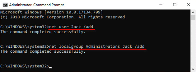 create administrator using command