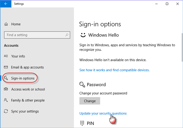 change account password windows 10 home