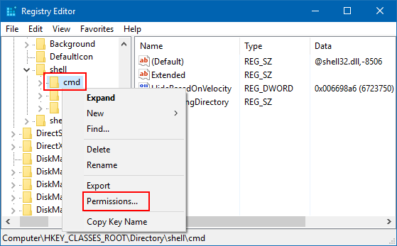 How to Restore Open Command Prompt Window Here to Context Menu