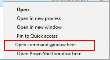 add open command prompt window here to context menu
