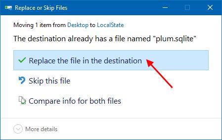 Replace Sticky Notes file