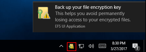 Click EFS notification
