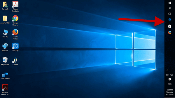 Move taskbar to right side of Windows 10 screen