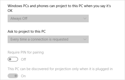 Cannot project to this PC