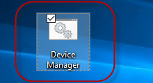create shortcut for Device Manager