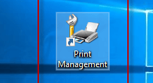 create shortcut for Print Management