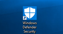 create Windows Defender Security shortcut