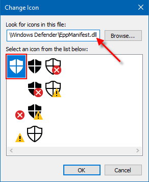 Windows Defender Shortcut