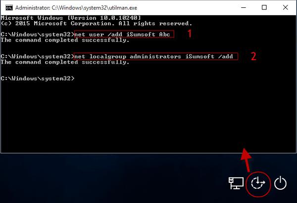 windows xp add administrator account