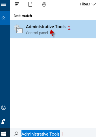 type administrative tools