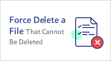 force delete file that cannot be deleted