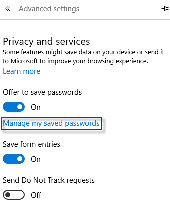 manage my saved passwords