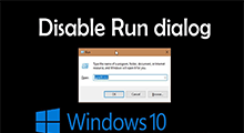 disable or enable Run dialog