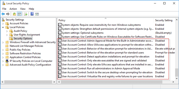 How to Disable User Account Control in Windows 10