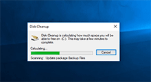 disk cleanup not working Windows 10