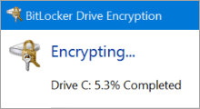 Enable BitLocker encryption