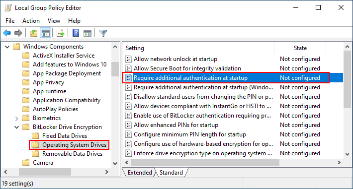 allow bitlocker without tpm