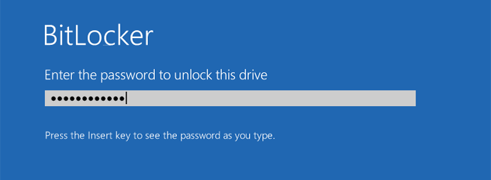 unlock the drive to start Windows 10