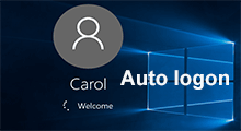 enable or disable auto login Windows 10