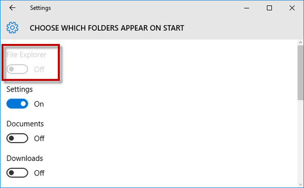 File Explorer grey out