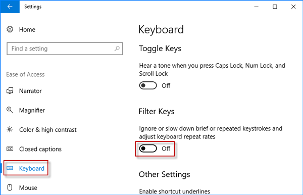 4 Methods to Fix Acer Aspire Laptop Keyboard Not Working in Windows 10