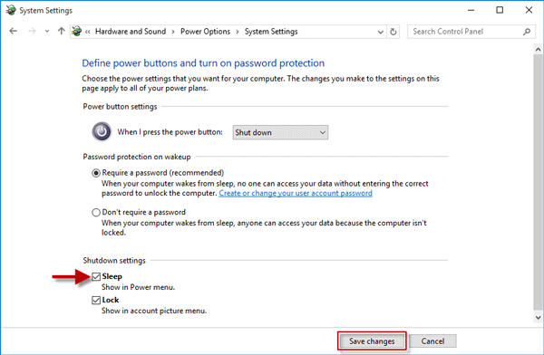Fix: Sleep Option Missing from Power Menu in Windows 10