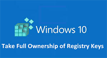 take ownership of registry key in Windows 10