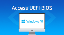 access uefi bios on Windows 10