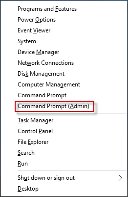 Select Command Prompt Admin