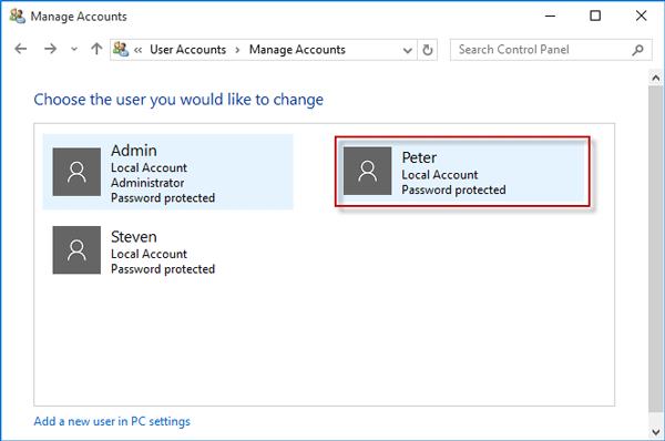 change administrator windows 10