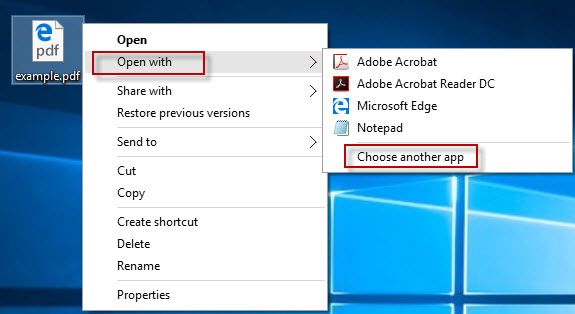 3 ways to change or set default pdf viewer in windows 10 for How to choose windows
