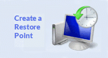 create and use system restore point