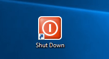 create shutdown or restart shortcut on Windows 10 desktop