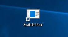 create switch user shortcut on Windows 10 desktop