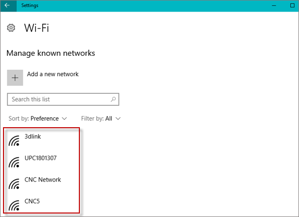 show all wifi networks