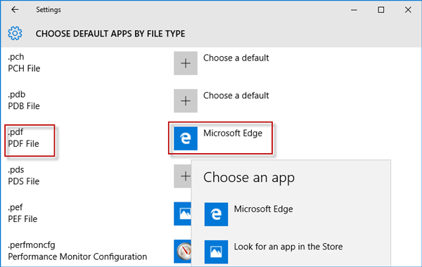 2 Ways to Stop Microsoft Edge as Default PDF Viewer in Windows 10