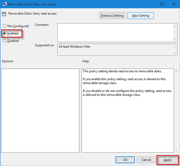 How to enable write protection for USB devices on Windows 10