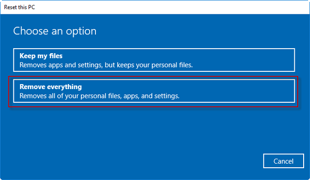 2 Ways to Factory Reset Acer Laptop Windows 10 without