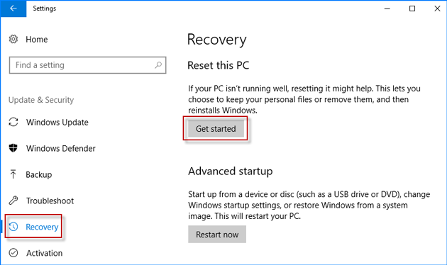 restore my acer laptop to factory settings