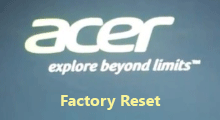 factory reset acer laptop without password
