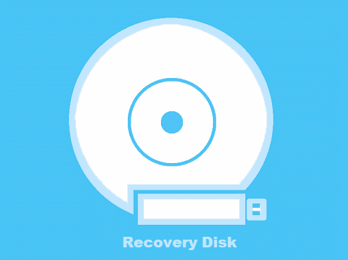 Insert recovery disk