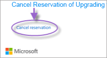 cancel reservation of upgrading